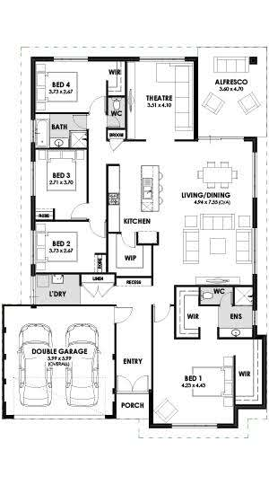 Home Designs Santorini Floorplan