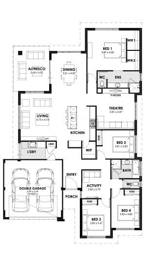 Home Designs Temptation Floorplan